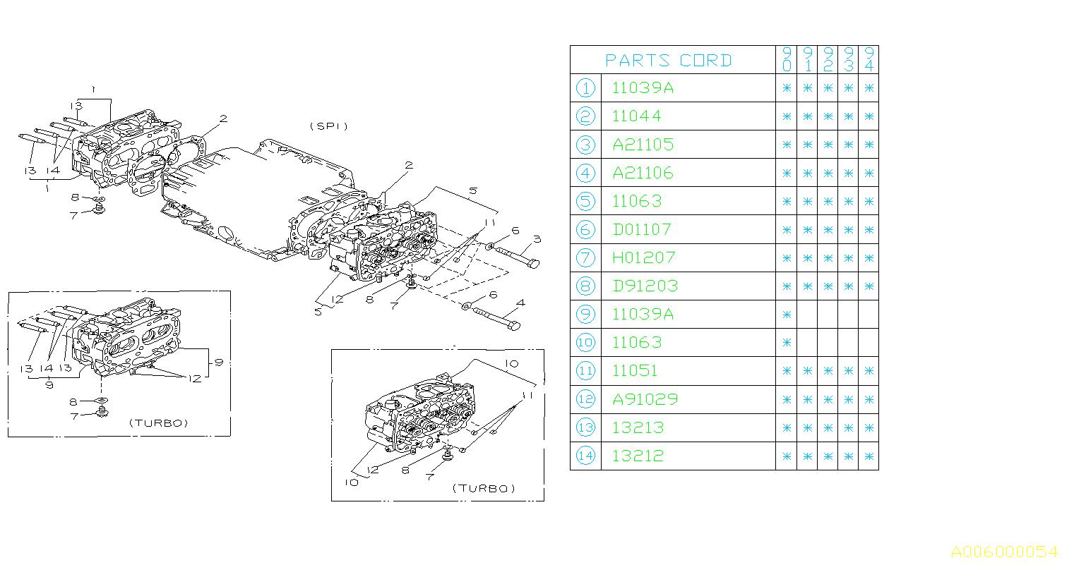 Subaru Loyale Washer  Cylinder  Head  Engine  Cooling