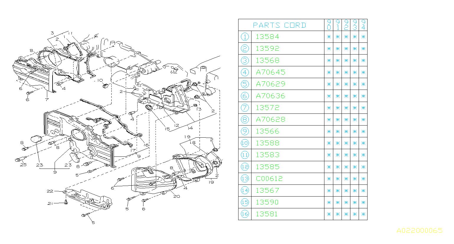 Subaru       Loyale    Sealingbelt cover  no4 left Timing