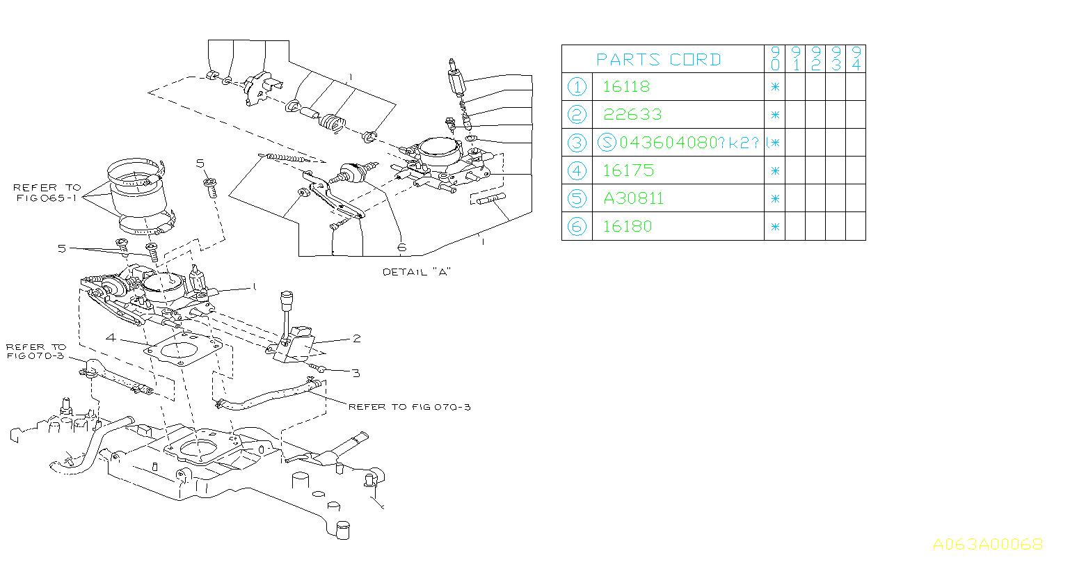 Subaru Loyale Sensor Assembly
