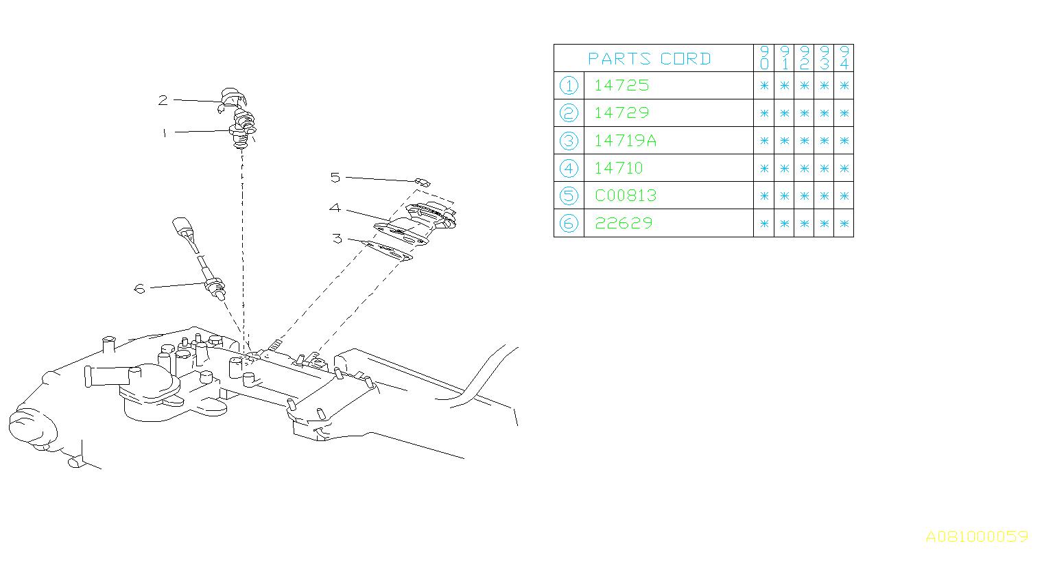 Subaru Loyale Egr Valve Temperature Sensor