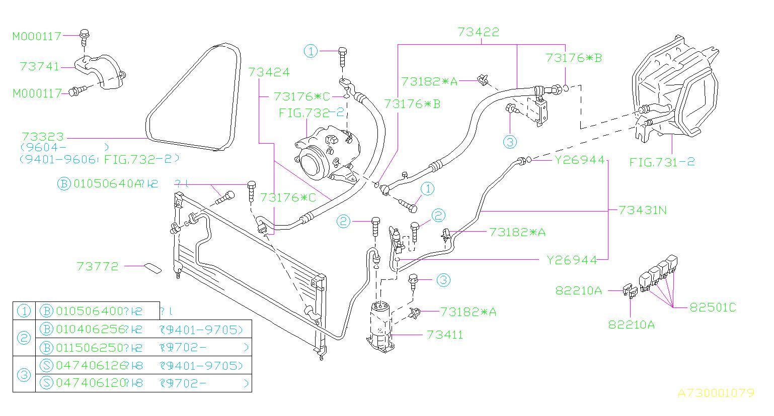 Subaru Legacy Fuse Auto Box Air Conditioner
