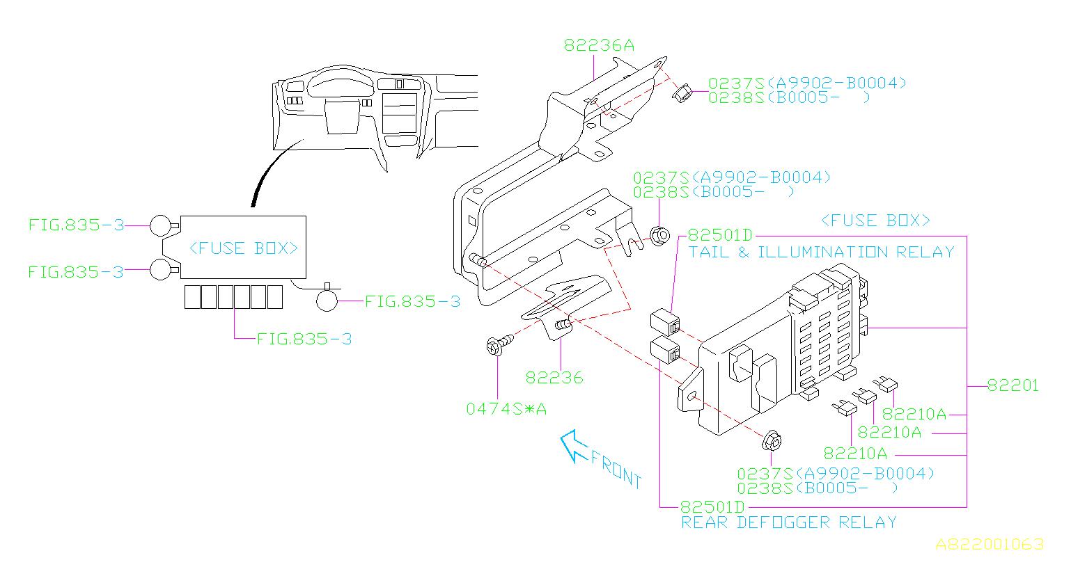 Subaru Legacy Accessory Power Relay. Relay for accessory ...