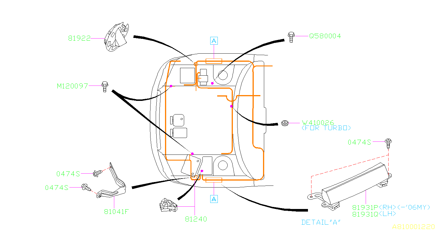 Subaru Outback Bolt Earth  Wiring  Main  Harness