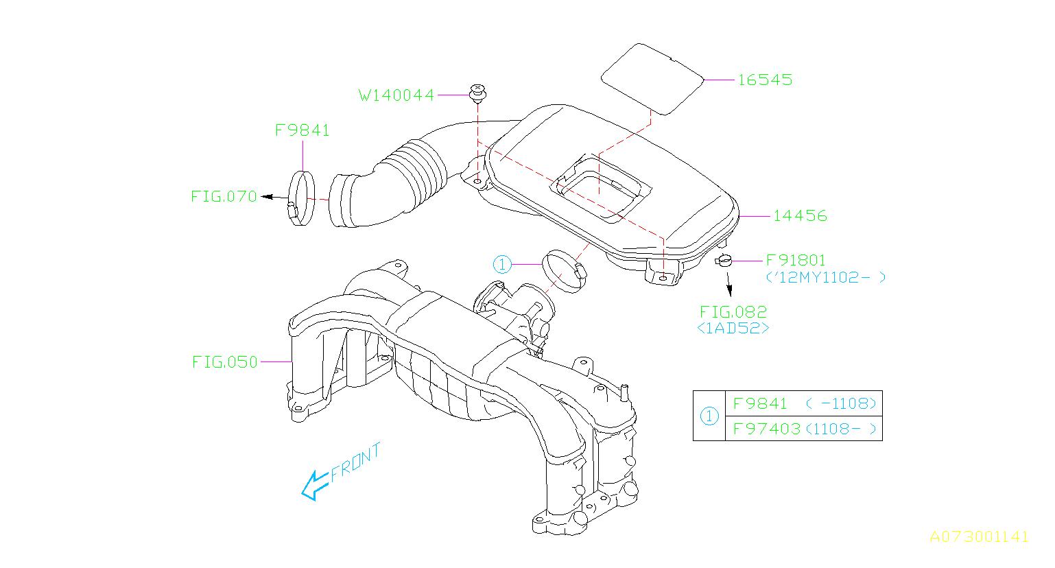 Subaru Legacy Engine Air Intake Hose. Boot Complete Air ...