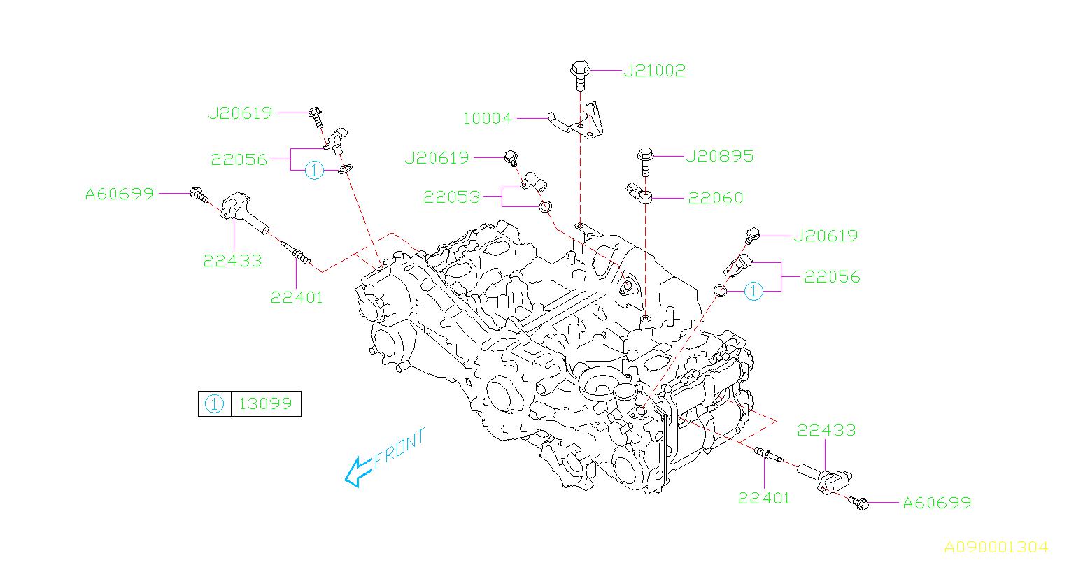 Subaru Outback Engine Camshaft Position Sensor  Cause