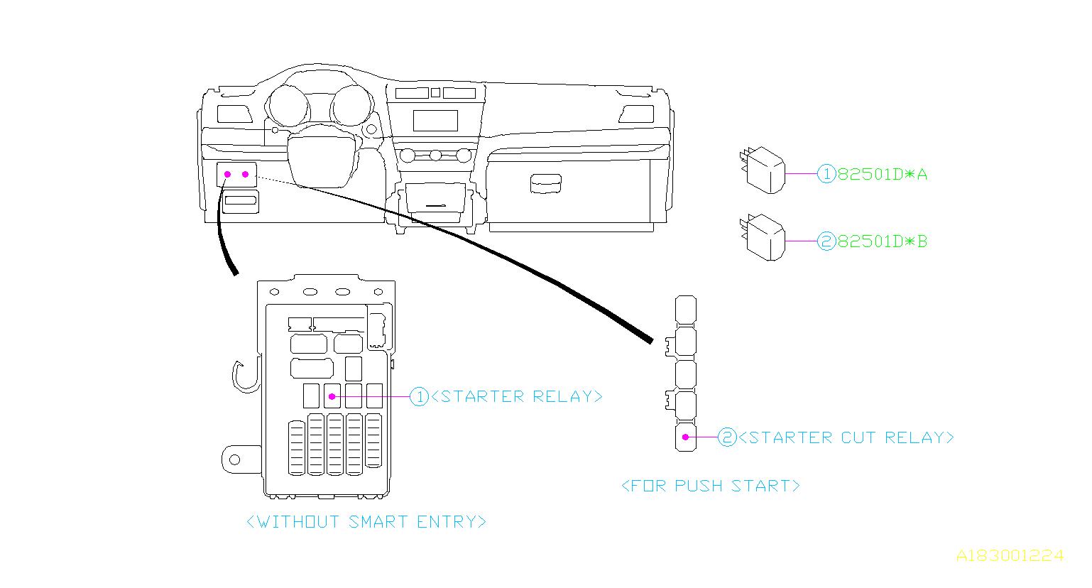 subaru outback relay  electrical  body  control