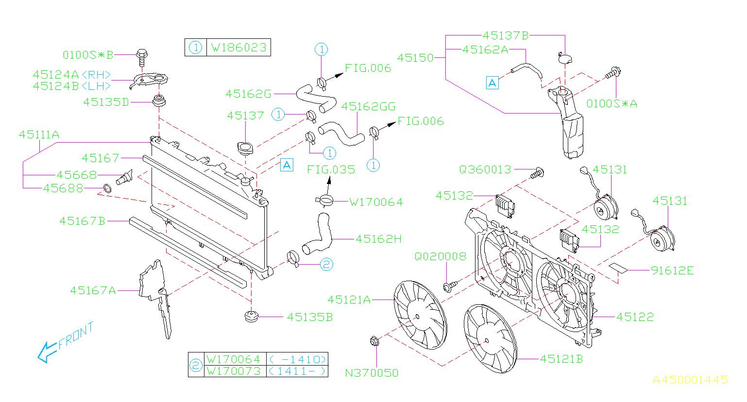 Subaru Outback Engine Cooling Fan Controller. Unit Fan ...