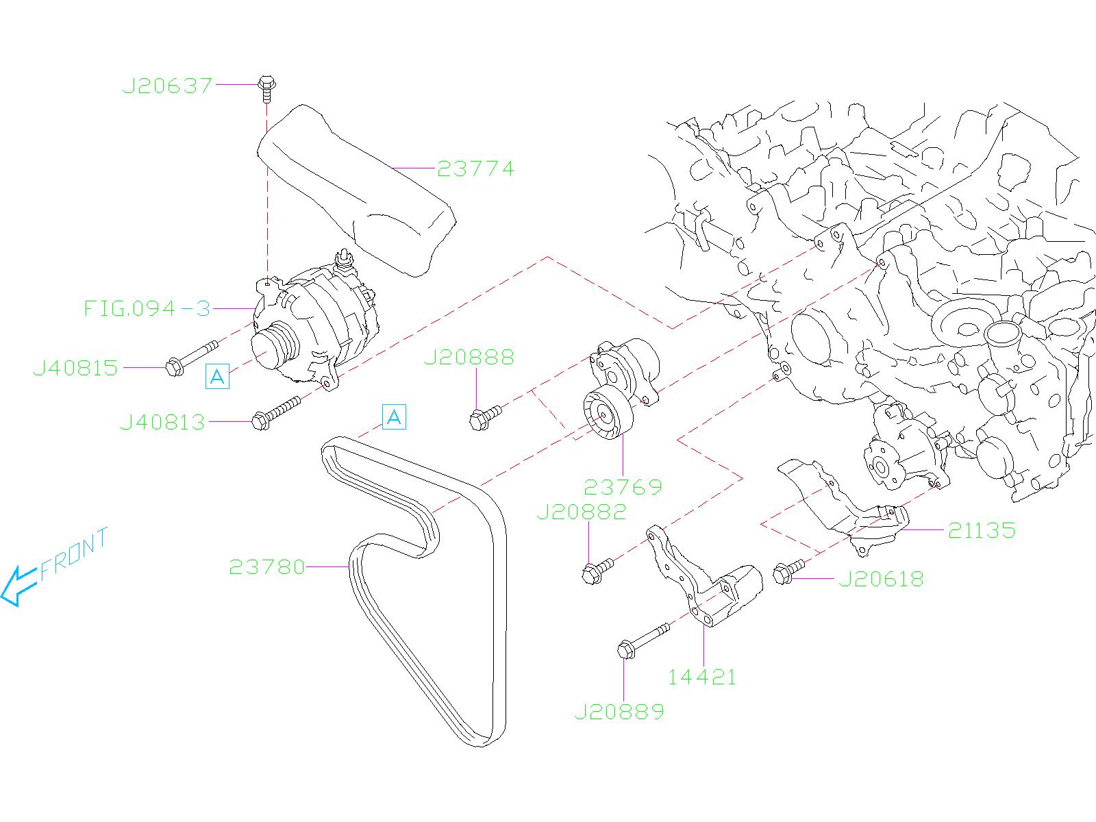 Subaru Outback Serpentine Belt  Engine  Drive  Having