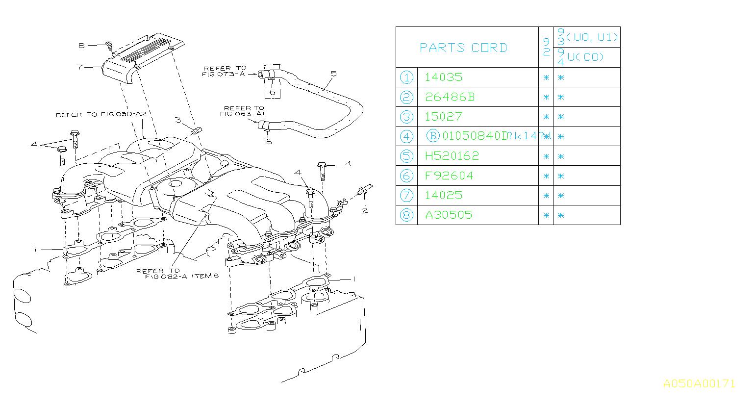 Subaru Svx Bolt Socket  Manifold  Intake  System  Engine