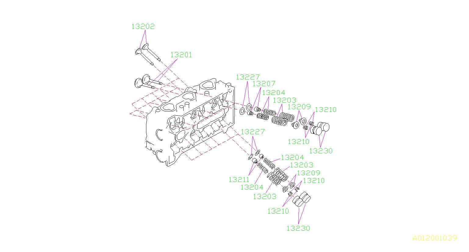 Subaru Svx Engine Valve Spring Retainer Keeper  Pt040299 Collet Valve