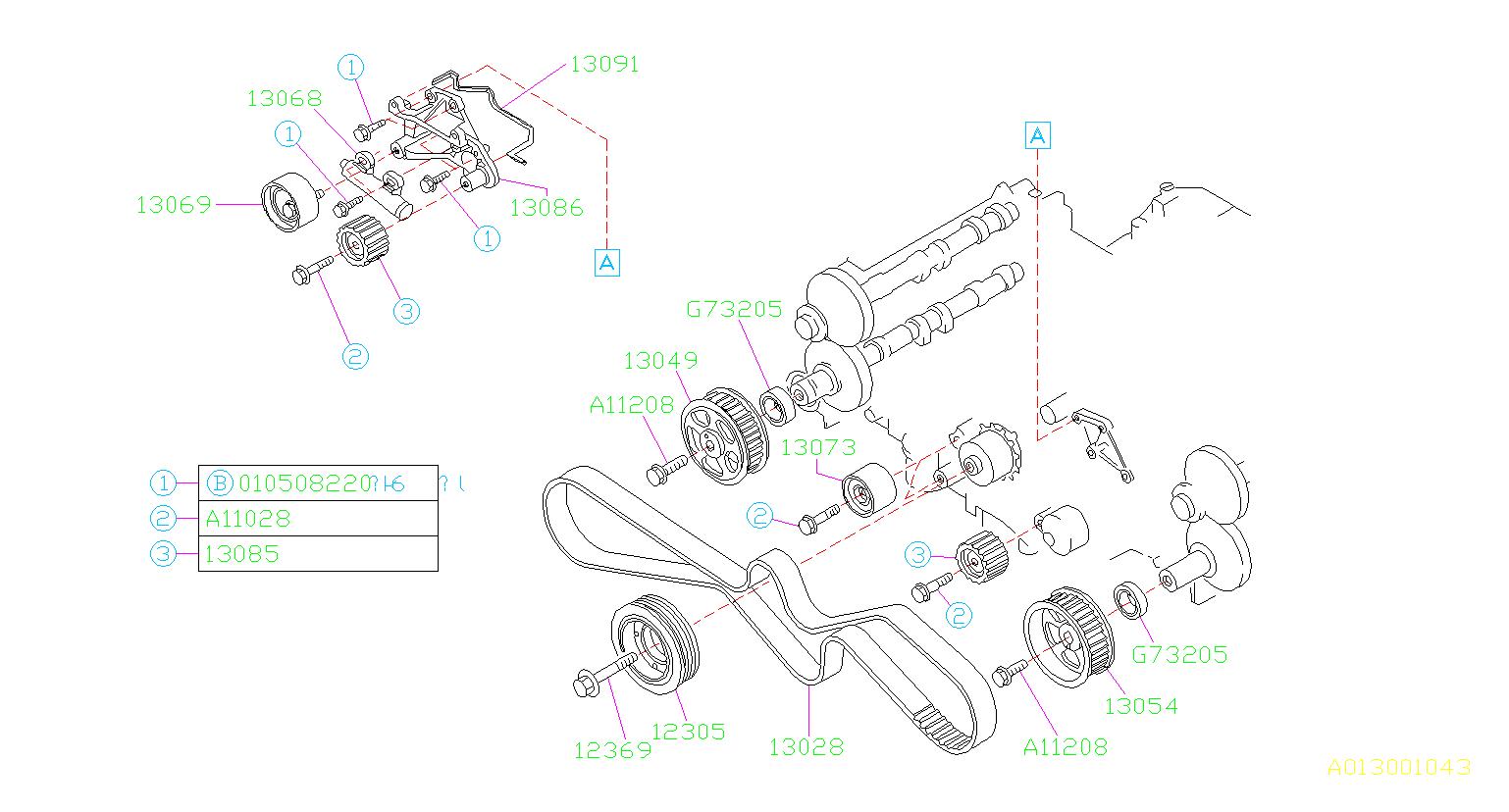 Subaru Svx Engine Timing Belt  Maintenance  Belts