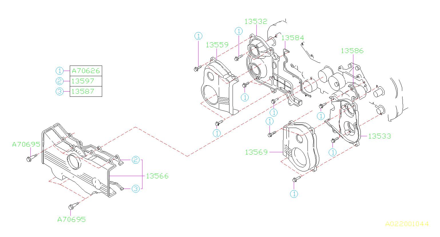 Subaru Svx Engine Timing Cover Gasket