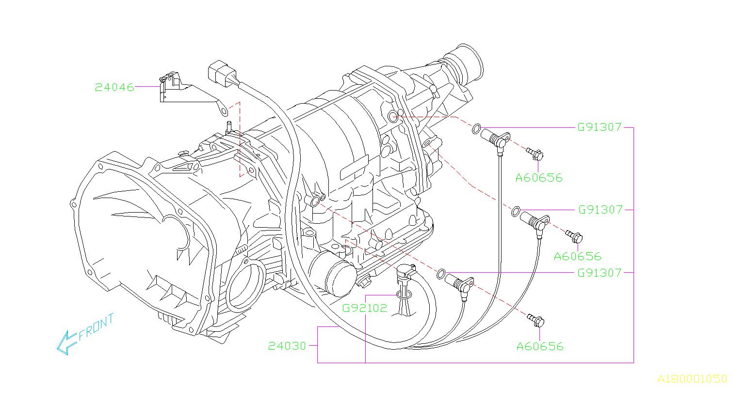 Subaru Impreza Stay-transmission Harness  Control  Unit  Shift  Automatic