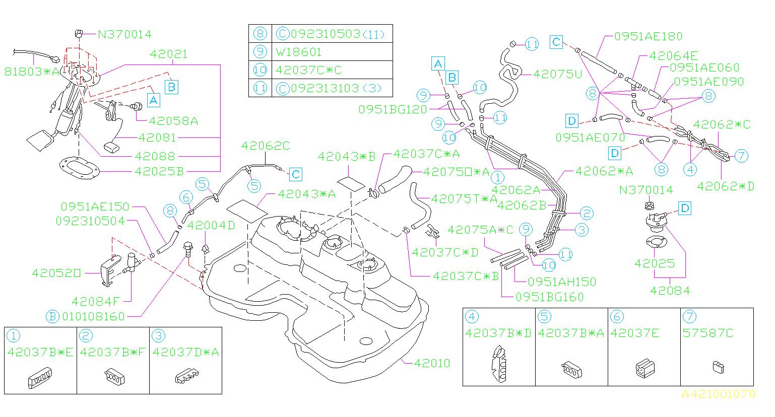 Subaru Impreza Fuel Pump Wiring Harness  Tank