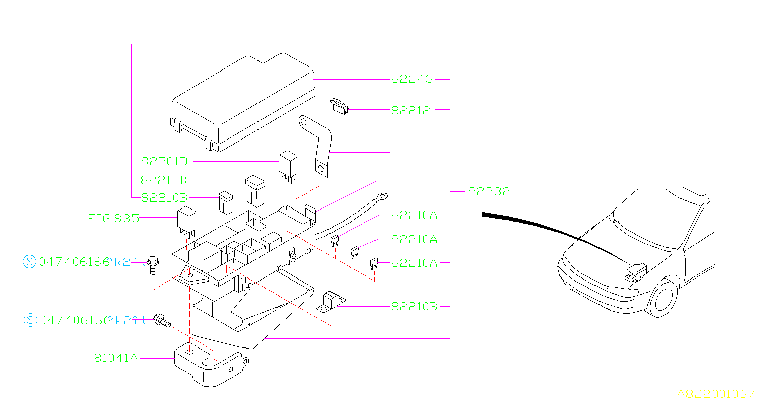 Subaru Impreza Fuse Puller  Box  Wiring  Harness
