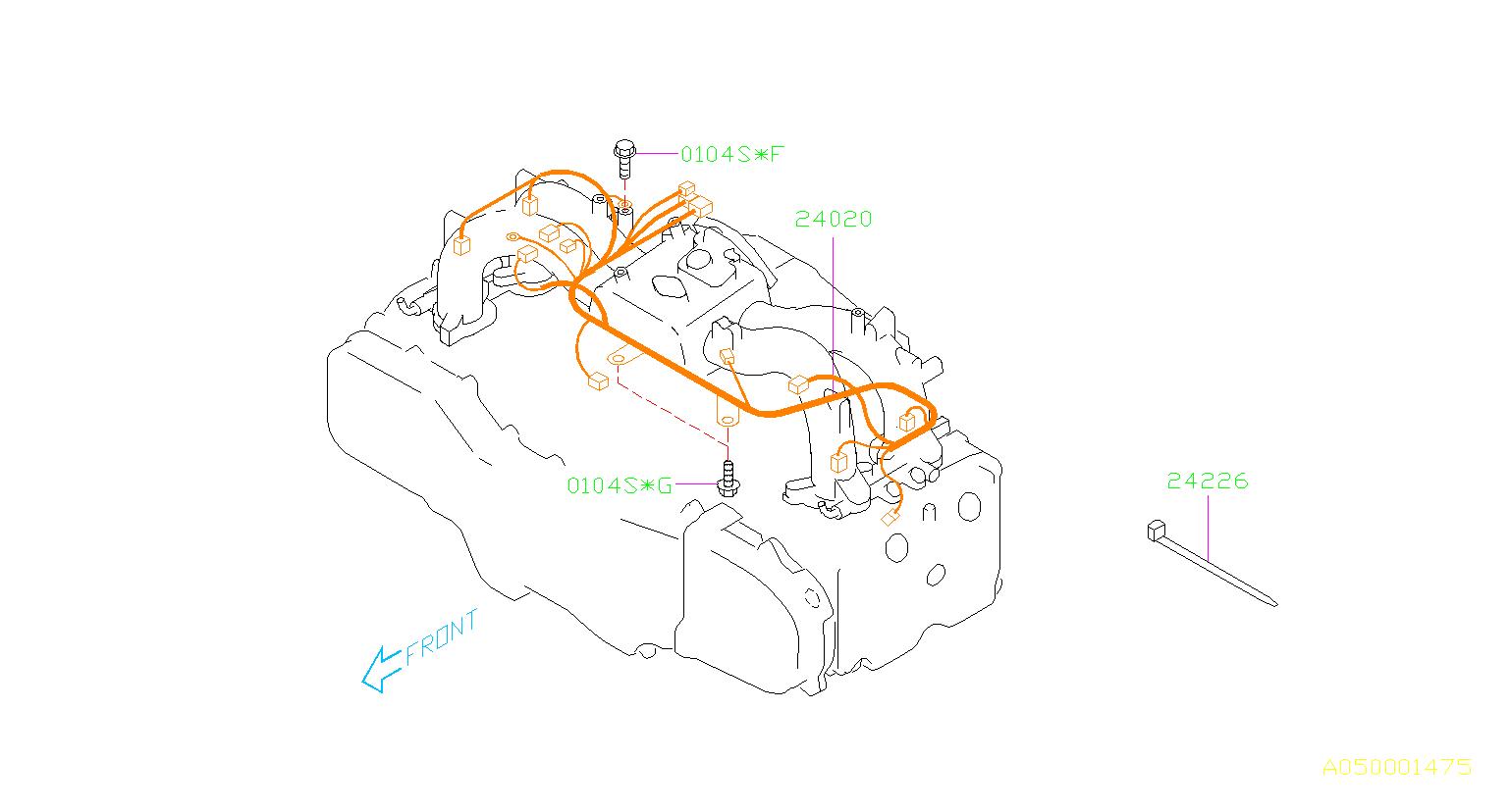 subaru impreza harness-engine  wiring  manifold  intake  cooling