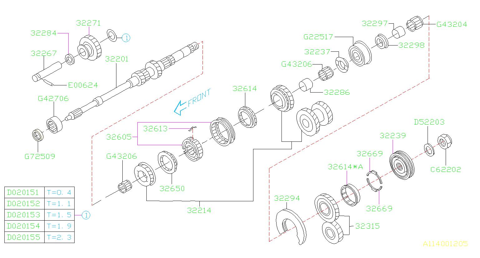 subaru impreza shaft transmission main manual gear. Black Bedroom Furniture Sets. Home Design Ideas