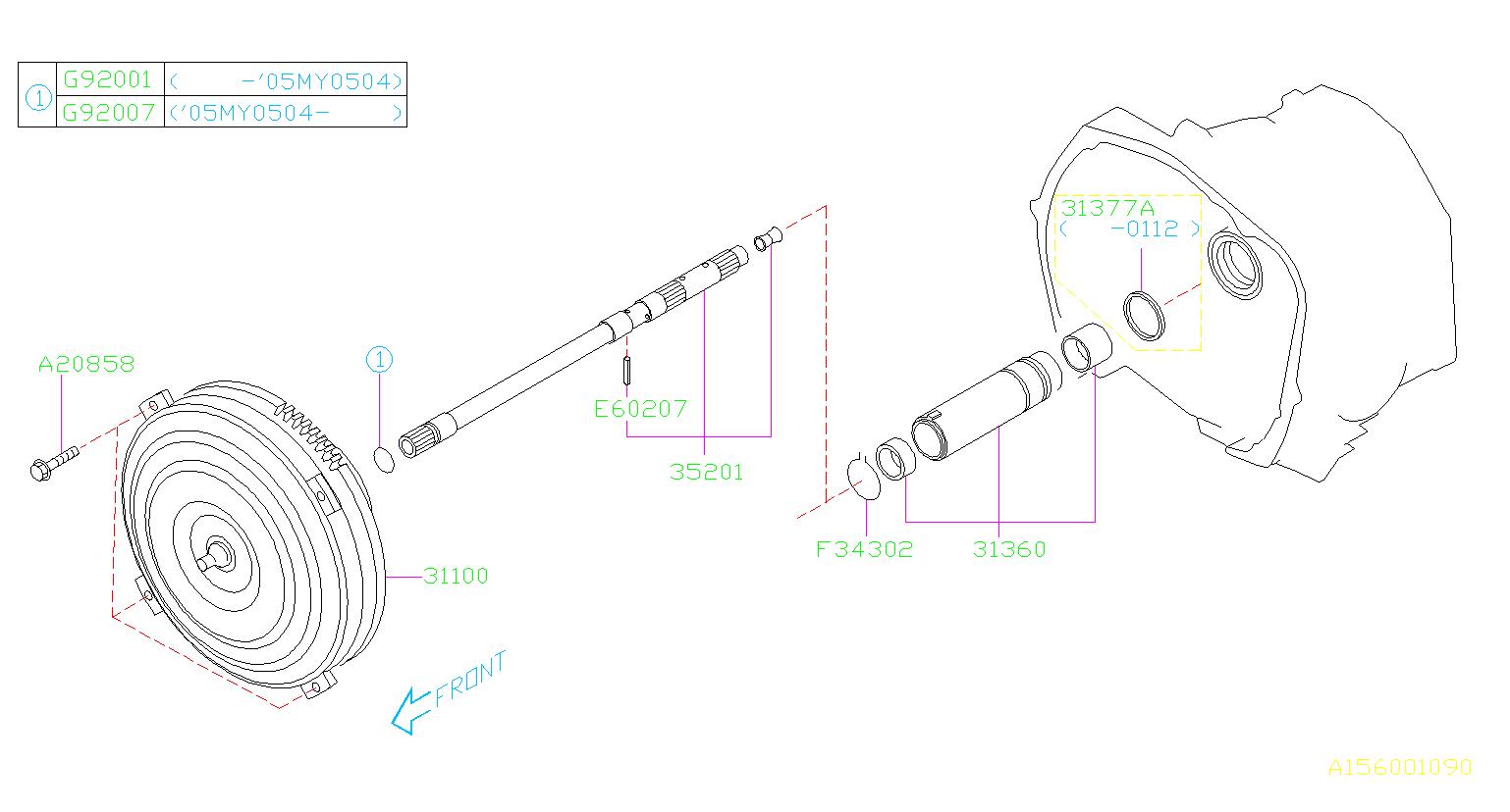 subaru impreza shaft complete oil pump transmission. Black Bedroom Furniture Sets. Home Design Ideas