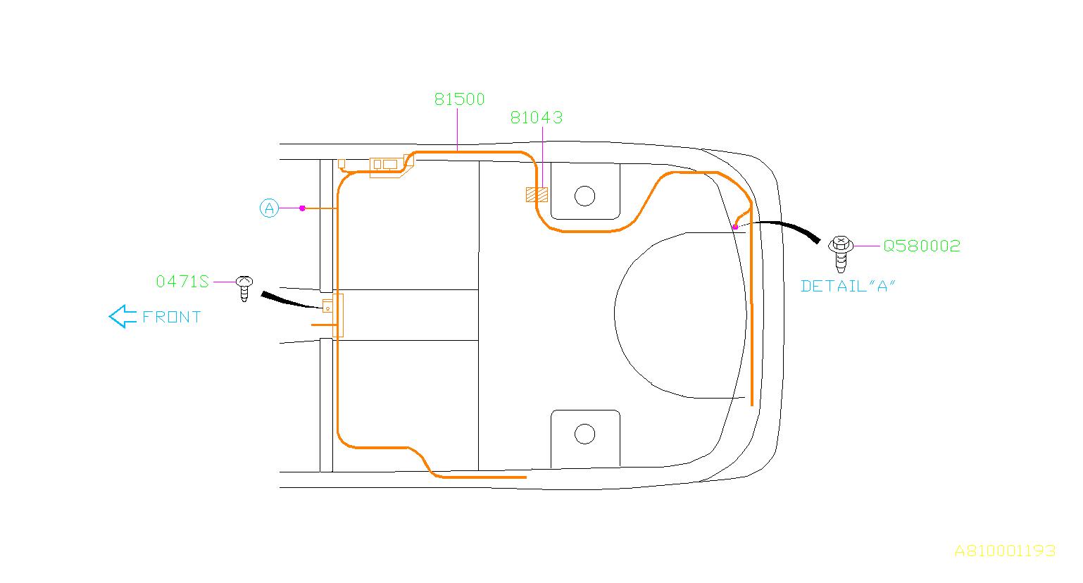 Subaru       WRX    Tapping screwpan flange head Antenna