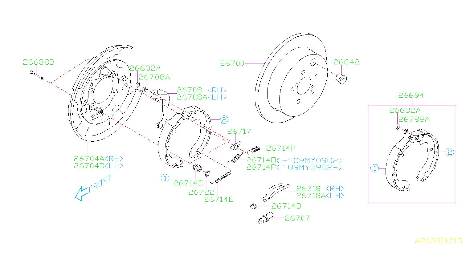 Subaru Impreza Disc Brake Rotor  Rear
