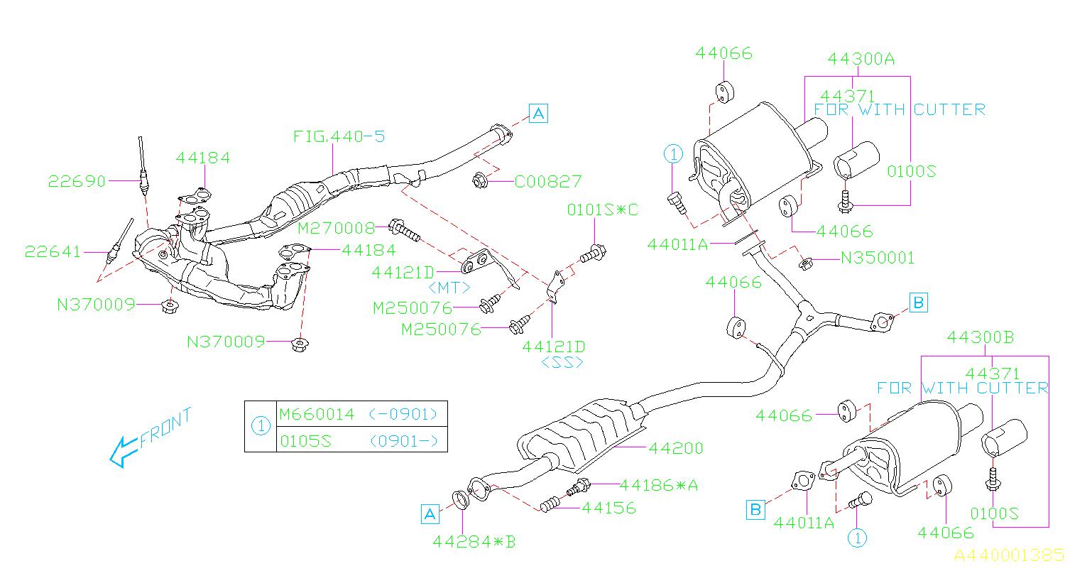 Subaru Impreza Muffler Assembly