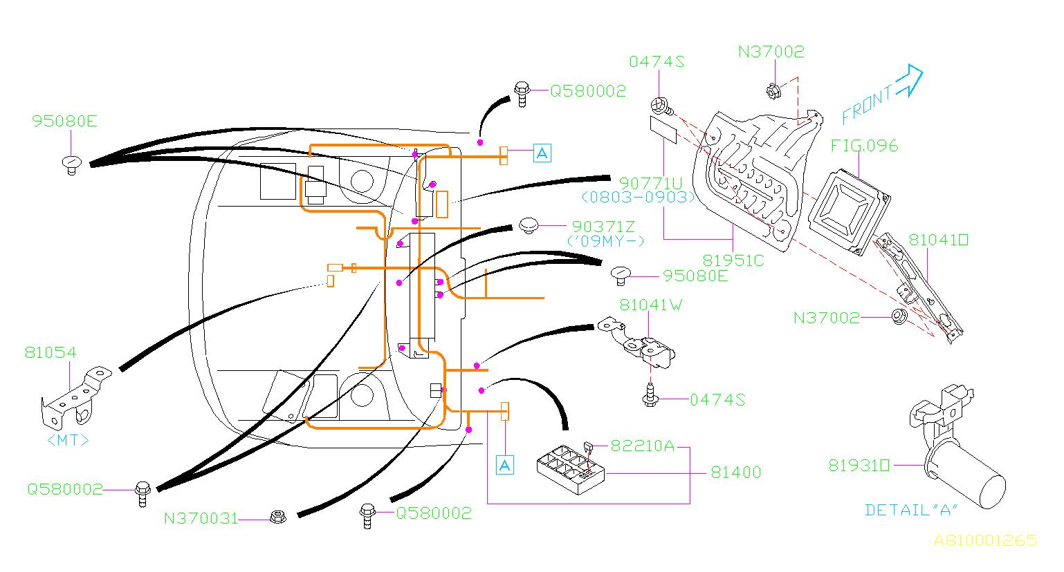 Subaru    Impreza    Harnessbulkhead    Wiring     main  electrical