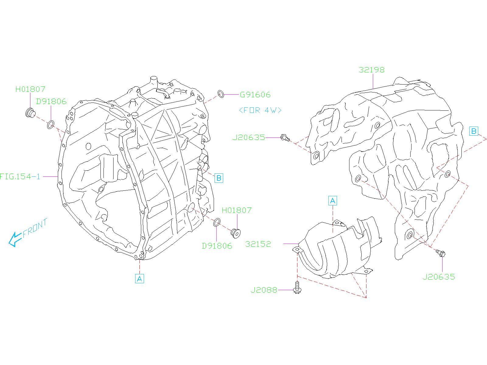 Subaru Impreza Bolt  Case  Transmission  Converter  Torque  Automatic