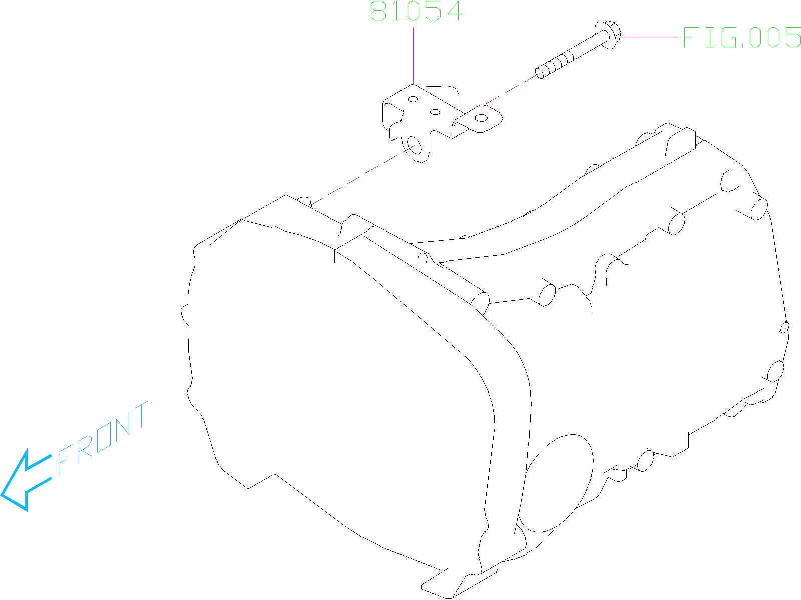 Subaru Impreza Plate  Harness Clip  Bracket  Wiring  Main