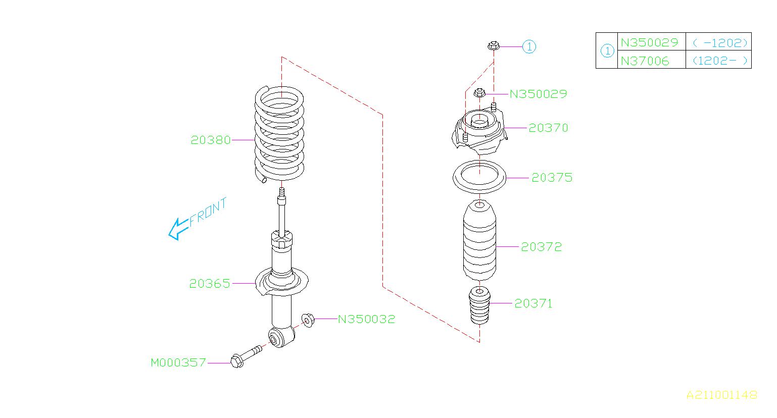 subaru impreza shock absorber-rear  struts  suspension  shocks  maintenance  brakes