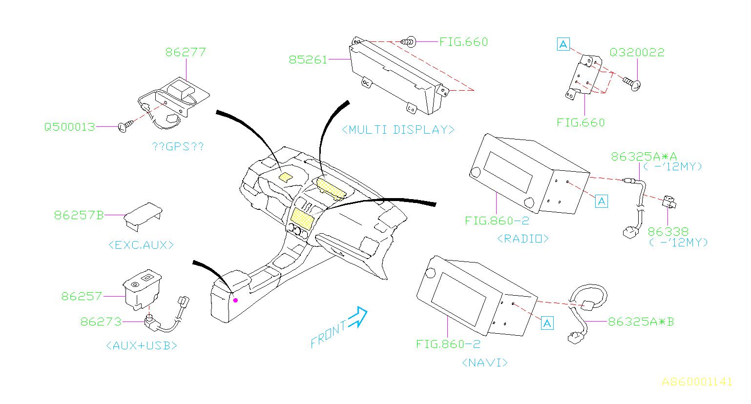 Subaru Impreza Radio Wiring Harness. FEEDER Cord ADP ...
