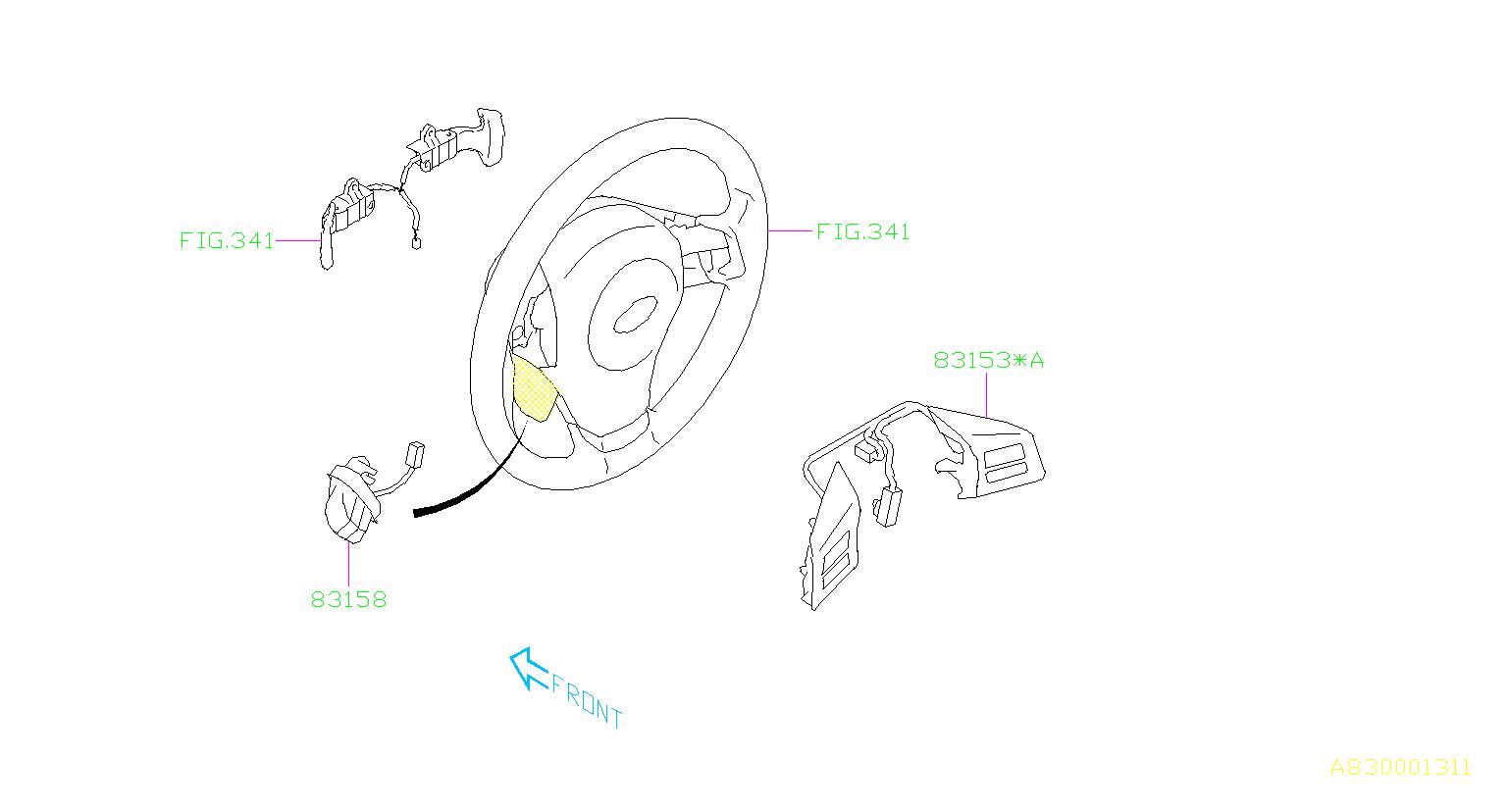 subaru crosstrek switch-satellite  steering  instrumentpanel  electrical