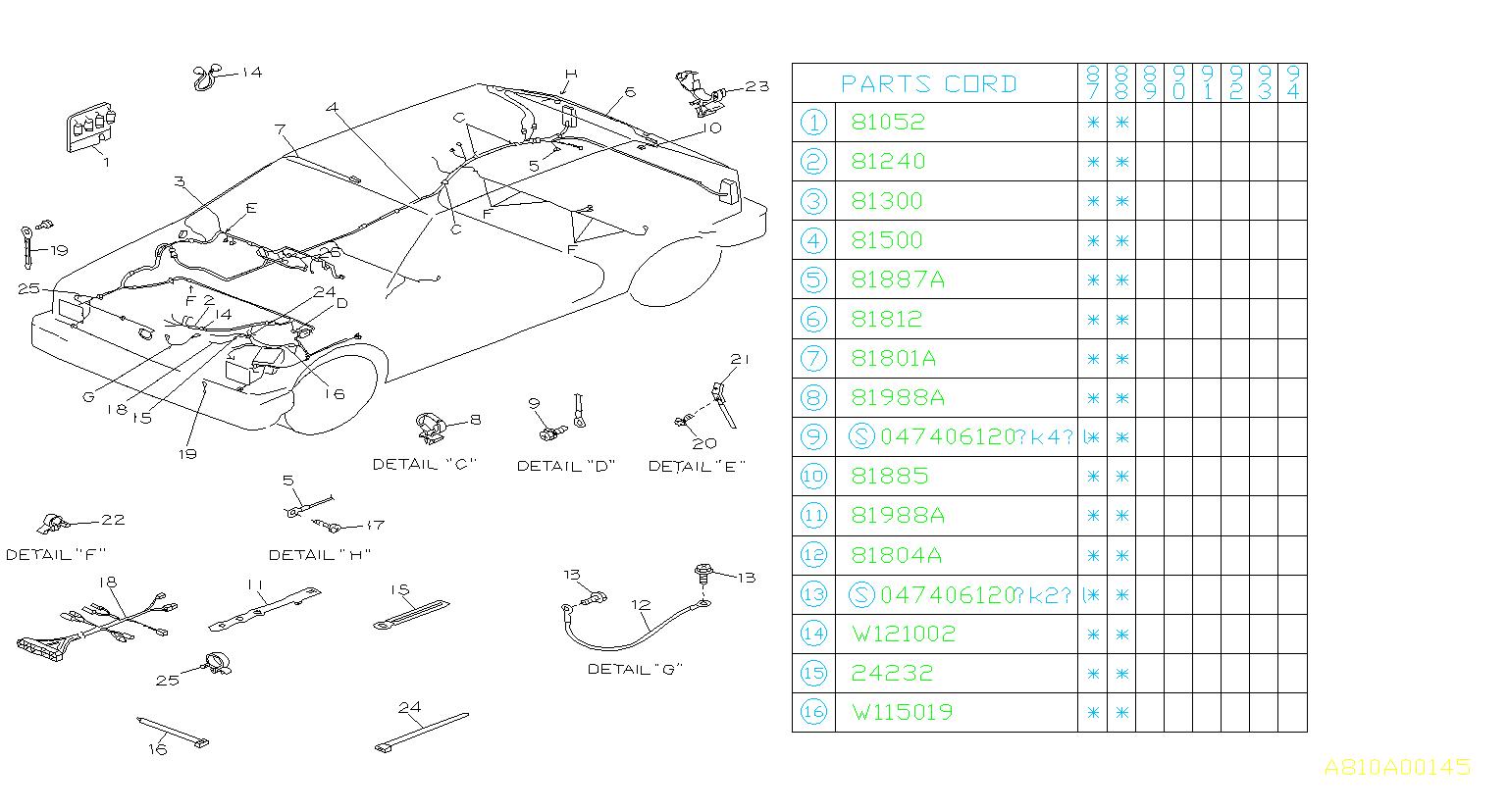 Subaru Justy Cruise Control Cable Clip