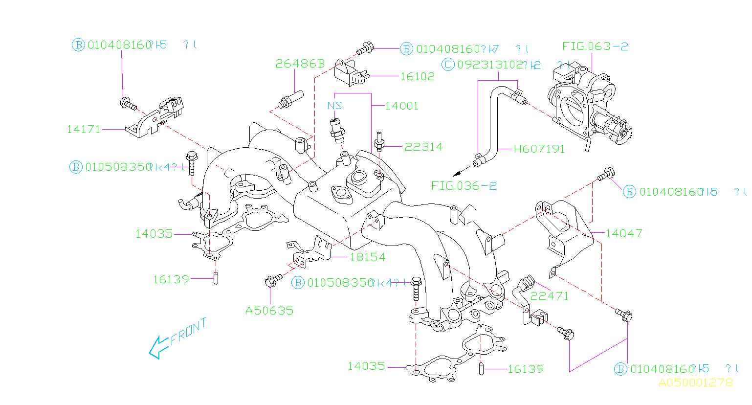 Subaru Forester Engine Intake Manifold Gasket  System