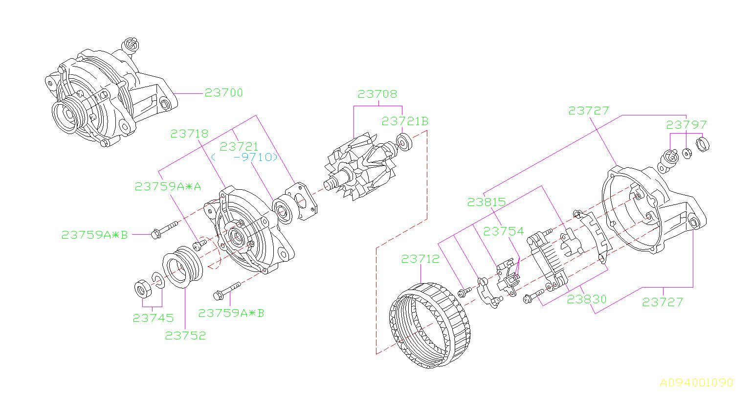 Subaru Forester Alternator Pulley  Body  Maintenance