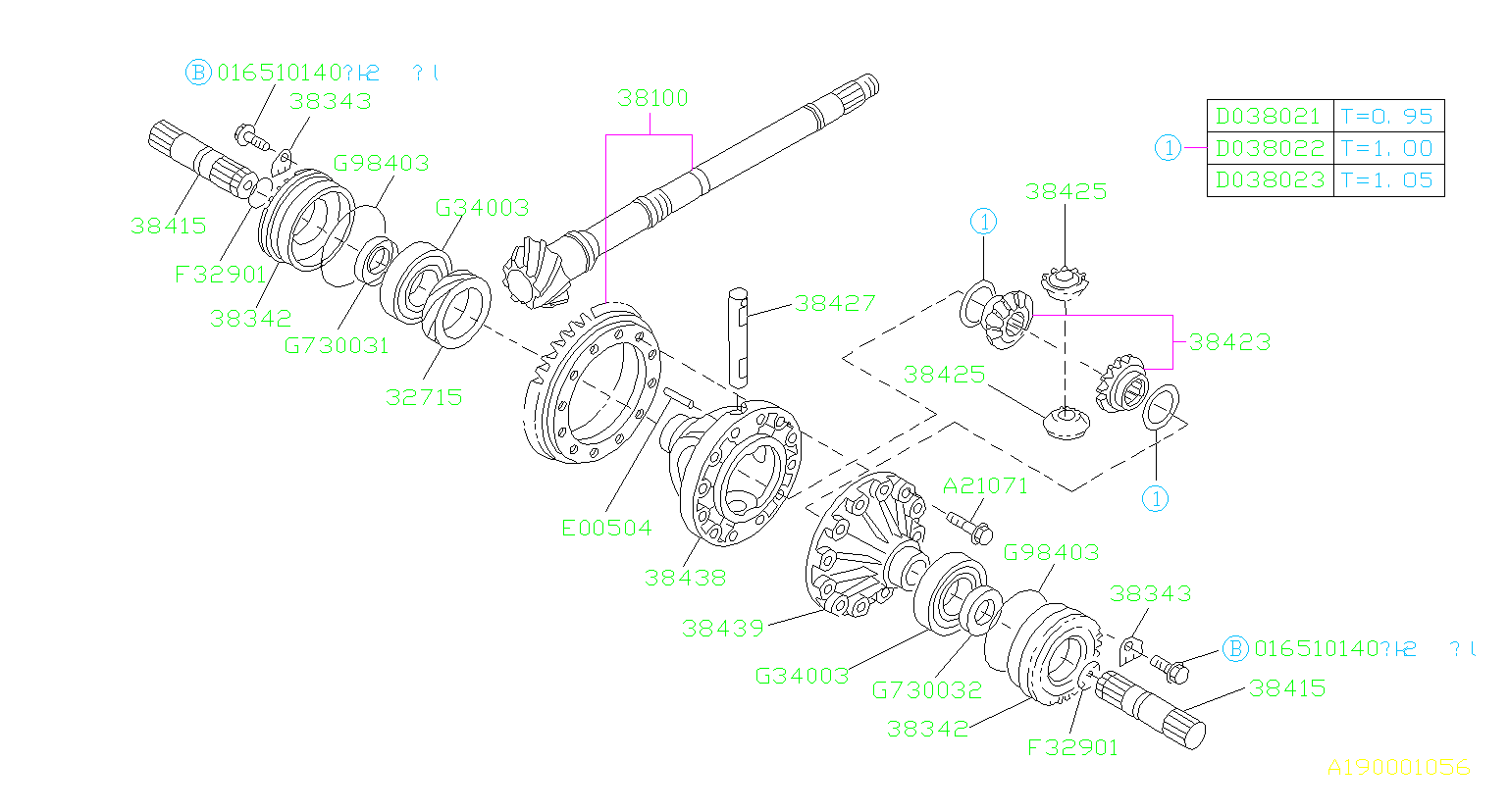 Subaru Forester Circlip   Inner   Differential