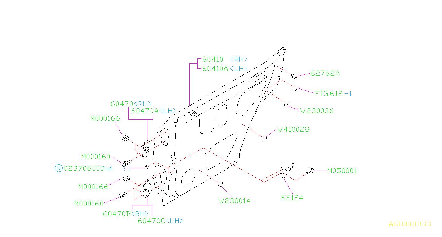 Subaru Forester Checker Assembly Rear Door Panel Body