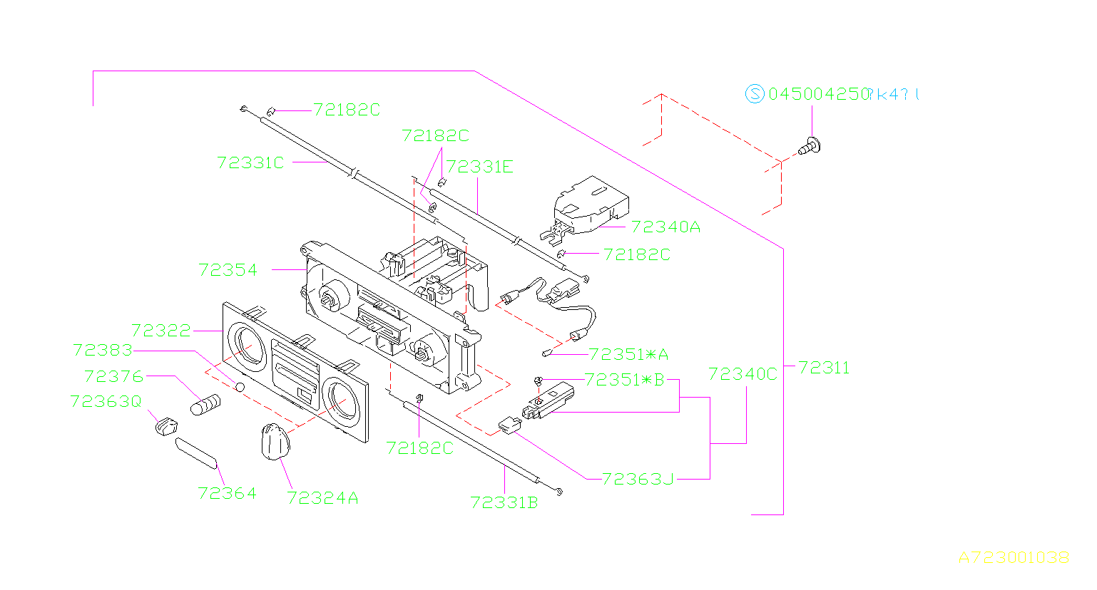 Subaru Forester Hvac Blower Control Switch  Switch Fan