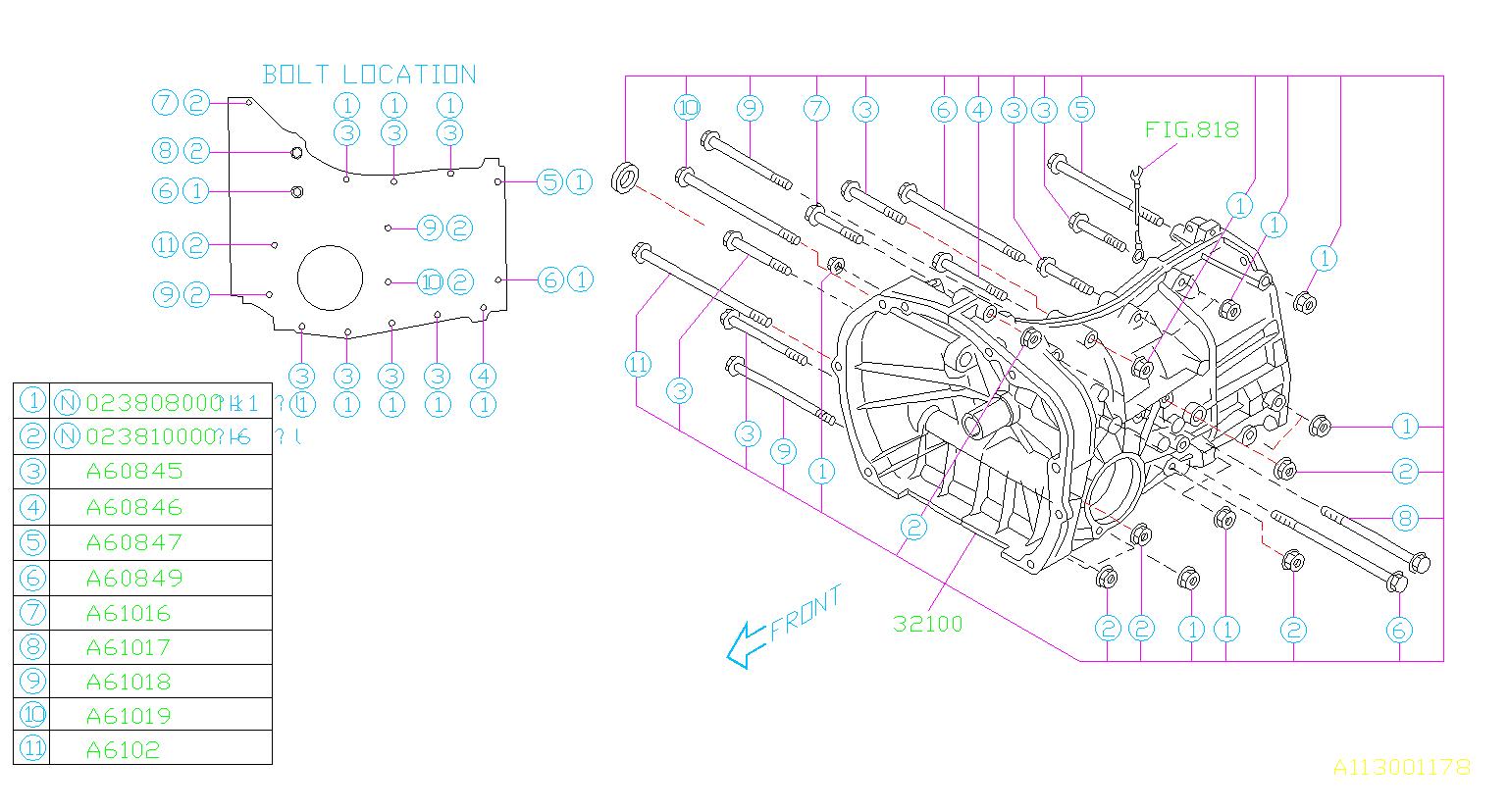 Subaru Forester Case Manual Transmission  R-dot