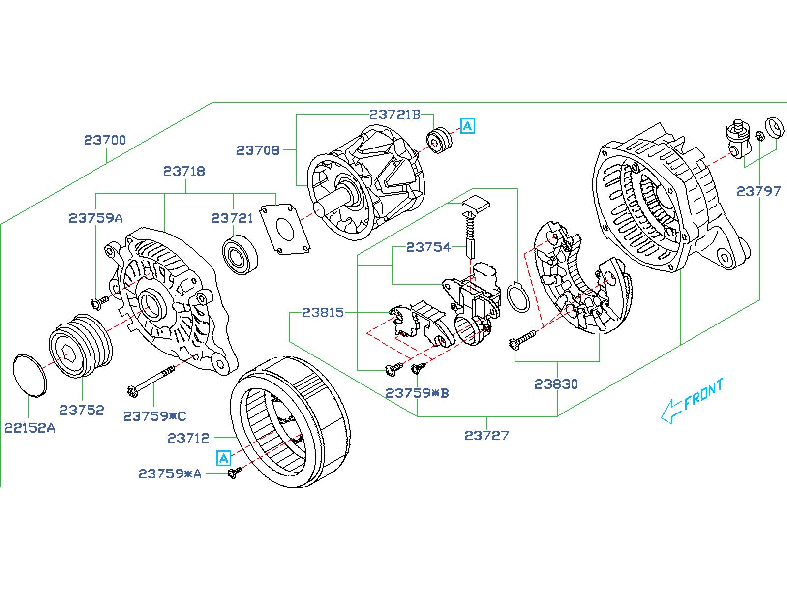 Subaru Forester Stator Alternator  Stator Altntr  Body