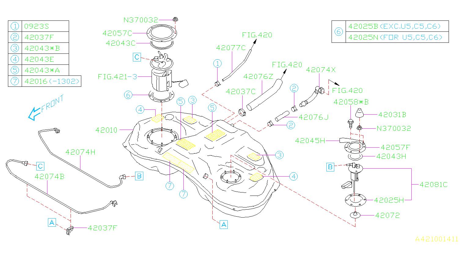 Subaru Forester Fuel Hose Clamp. Fuel Hose Clamp . TANK ...