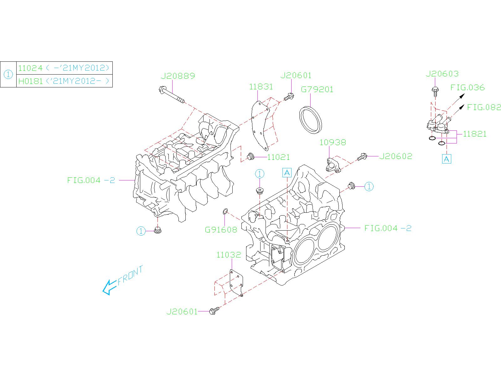 Subaru Forester Holder Complete Crankshaft Sensor  System