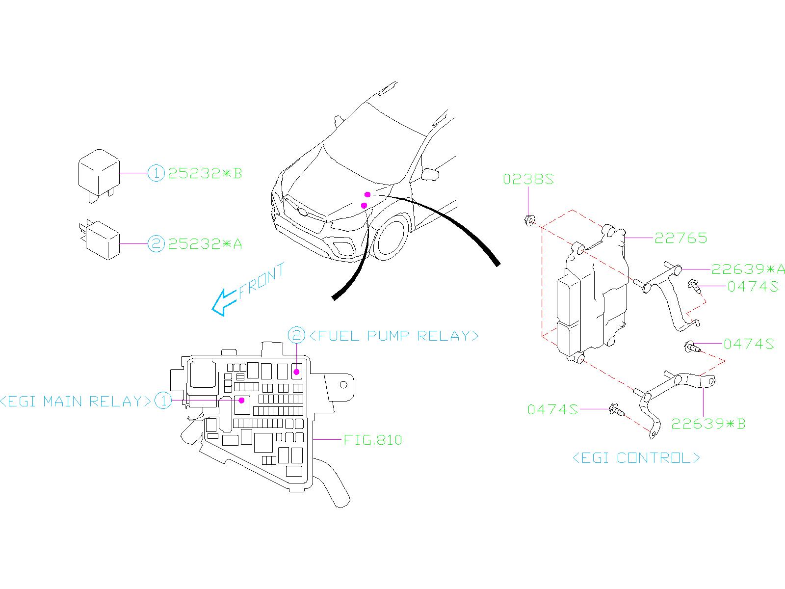 Subaru Forester Fuel Pump Relay. ELECTRICAL, ENGINE, BODY ...