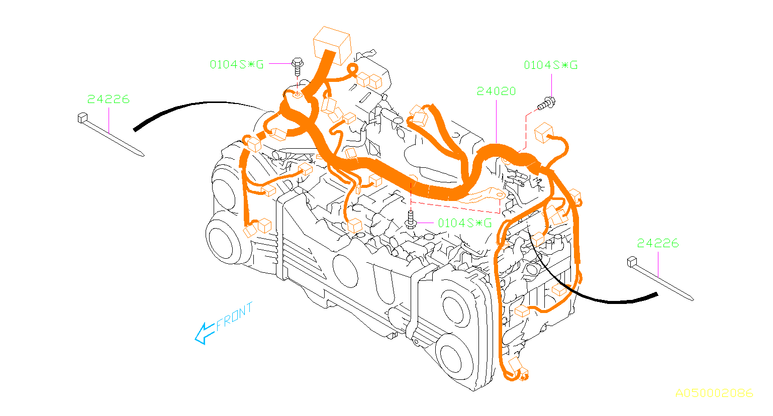Subaru Wrx Engine Wiring Harness  Wiring Harness Used For