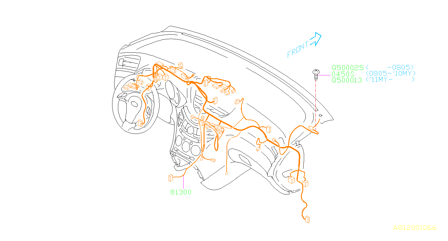 Subaru Tribeca Harness Instrument Panel  Wiring