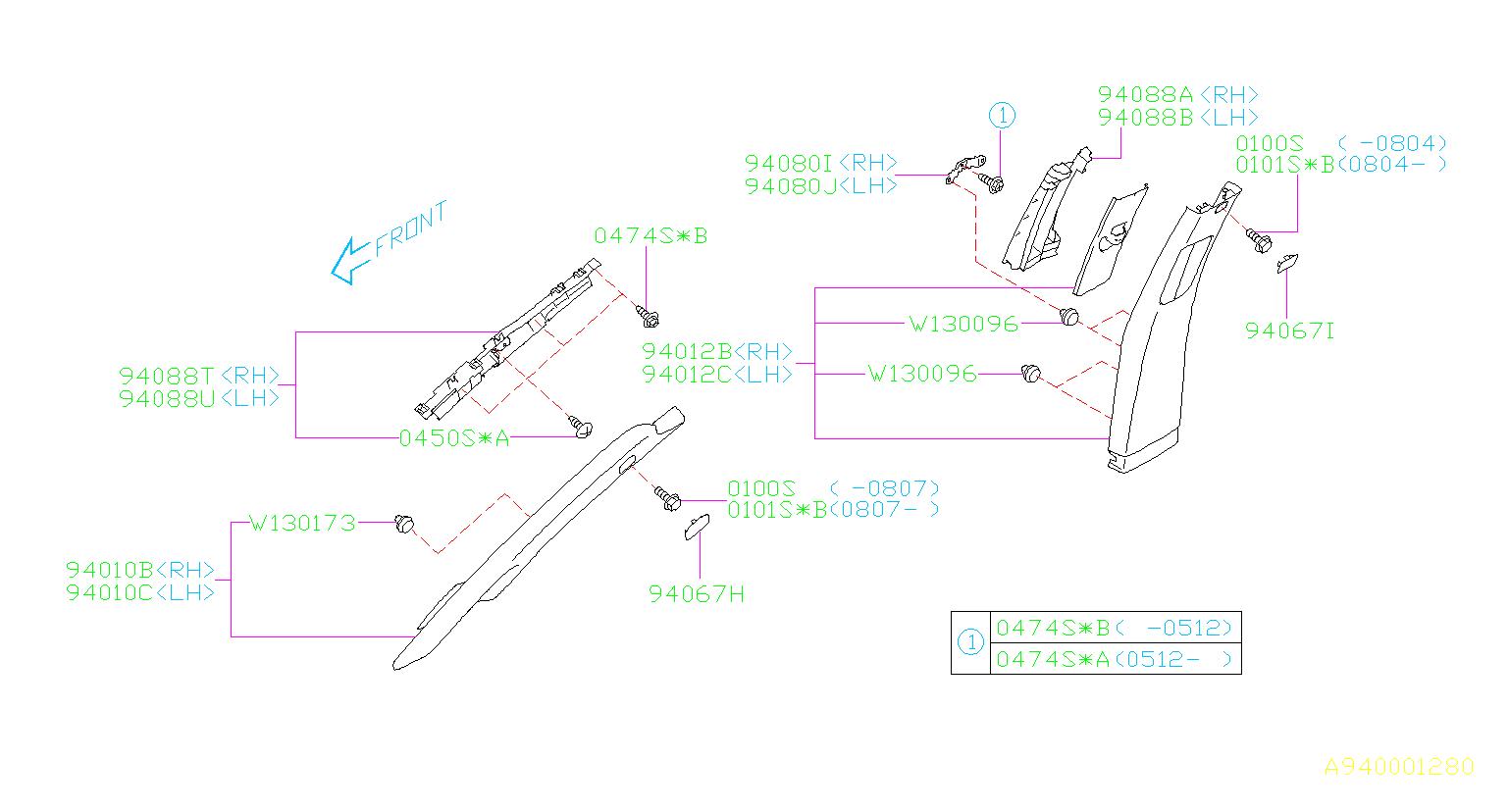 Subaru Tribeca Headlight Mounting Screw  Flange Bolt Pilot