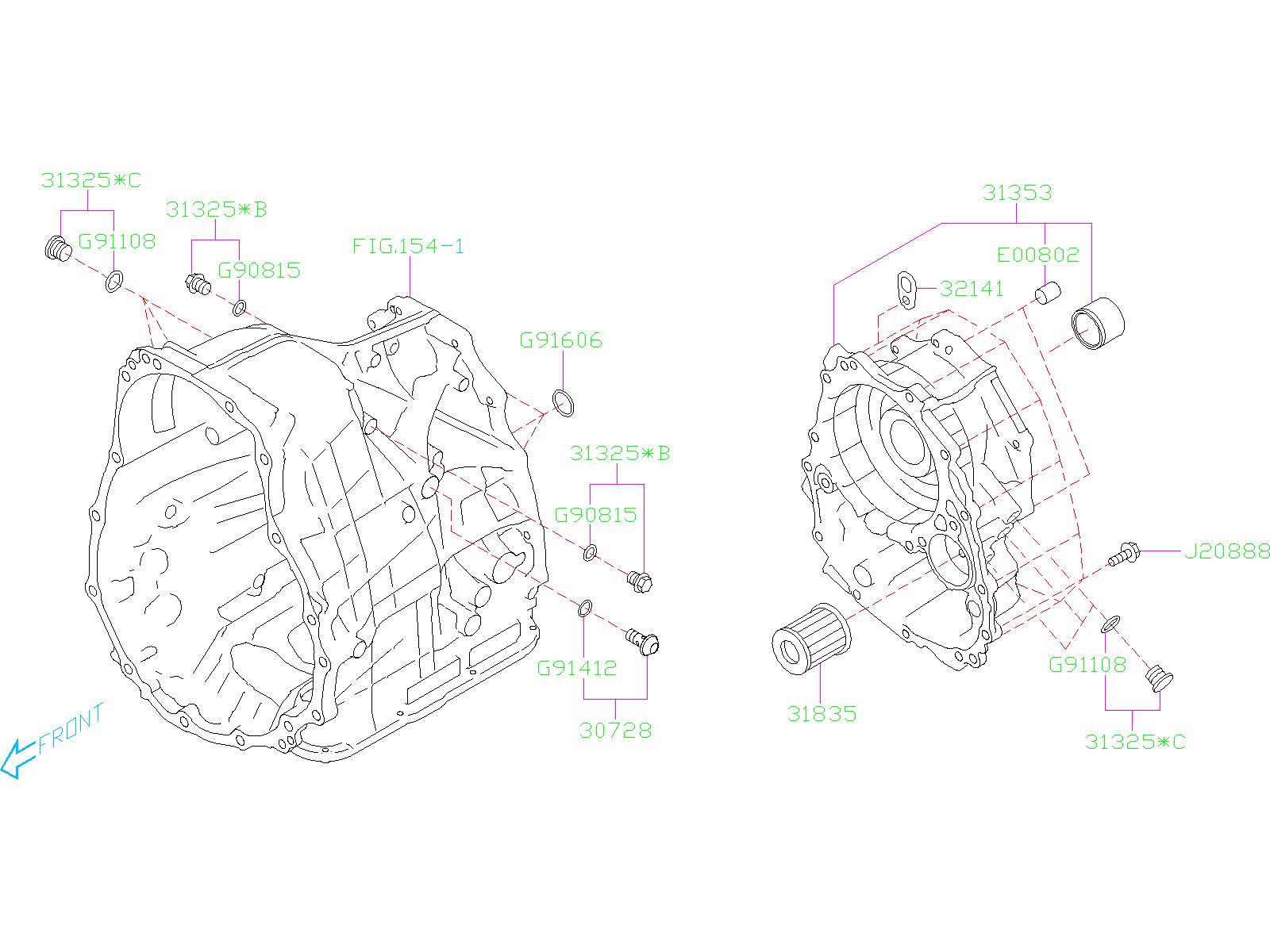 Subaru Ascent O Ring  Transmission  Case  Body