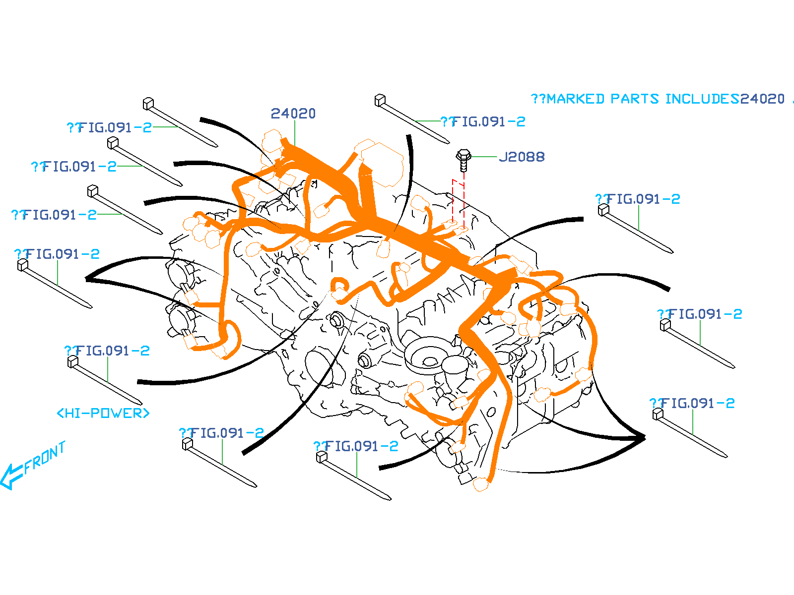 Subaru Brz Clip C   Engine  Harness
