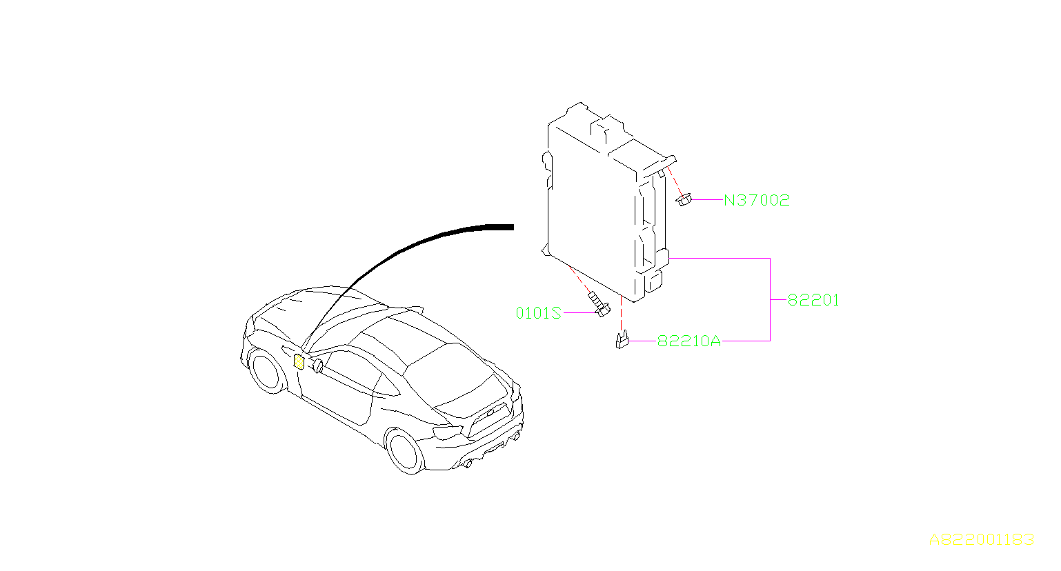Subaru    BRZ    Fuseauto Box  harness     wiring     82210AJ100