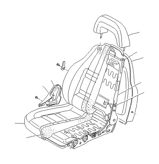 Subaru Svx Lumbar Lever   Beige  Umber   Beige  Front