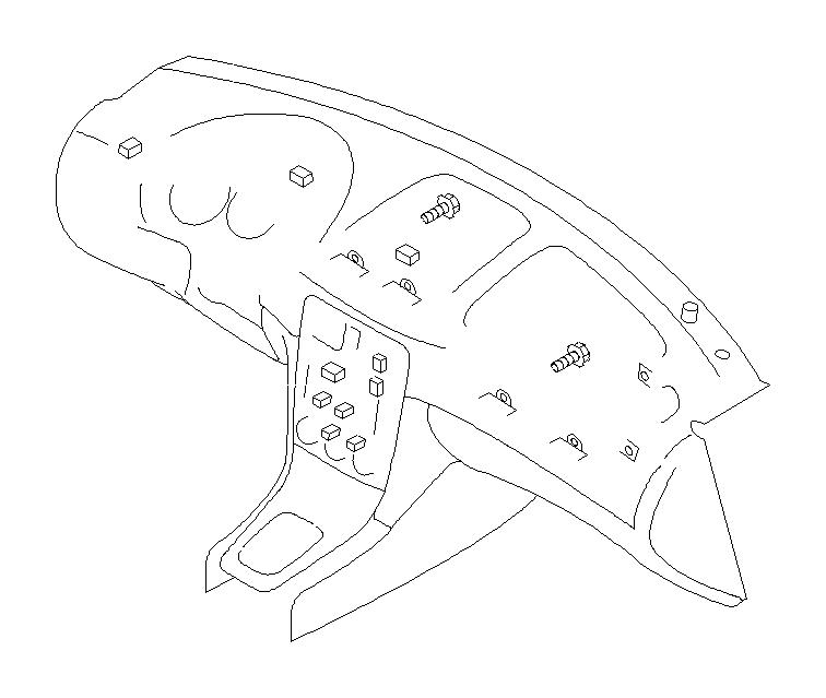subaru baja tapping screw-truss head  key  console  box